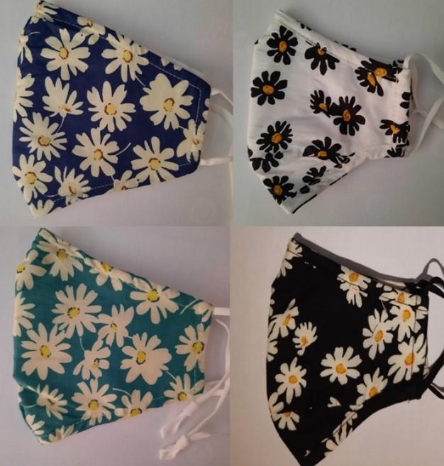 4 floral masks