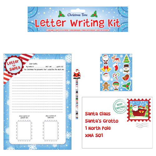 Christmas letter writing set
