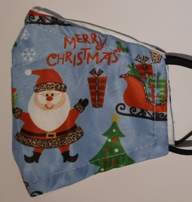 2 layer light blue with Santa