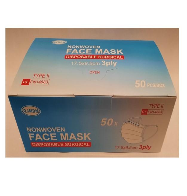 box of 50 facemasks